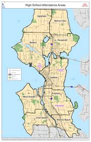 Map Of Seattle Attendance Area Maps For Seattle The Resegregation Of Schools