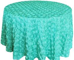 wedding linens for sale blue aqua satin rosette tablecloths wedding sale