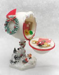 decorative eggs for sale christmas mailbox w packages christmas diorama christmas