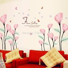wall stickers home decor aliexpress com buy flower gallery wall stickers romantic living