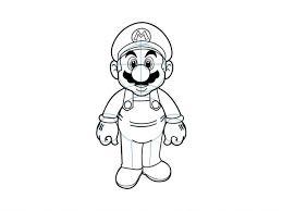 drawn mario nintendo character pencil and in color drawn mario