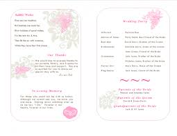 Sample Wedding Programs Templates Publisher Wedding Program Template