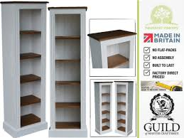white painted u0026 contrasting 5ft solid pine alcove bookcase