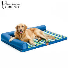 online get cheap bed headrest aliexpress com alibaba group hoopet ultimate all seasons striped couch style headrest edition pillow top orthopedic pet bed for dogs and cats