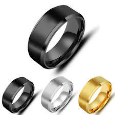 Mens Titanium Wedding Rings by Men U0027s Band Rings Ebay