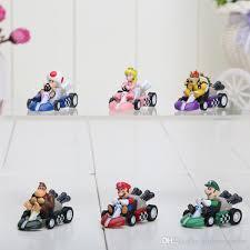 super mario bros kart pull car figure toy pullback cars dolls