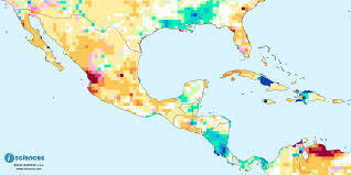 World Map Central America by Mexico Central America U0026 The Caribbean Water Deficits In