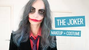 the joker easy makeup u0026 costume tutorial halloween villains