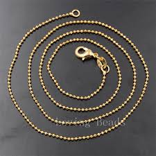 gold lobster necklace images Ya0712 18k gold ball chain jewelry findings necklace lobster clasp jpg