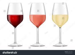 glass wine red white rose vector stock vector 308844428 shutterstock