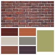 best exterior paint color schemes with orange red brick warm