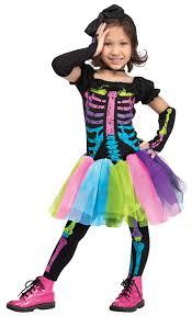 Catarina Halloween Costume Funky Punk Skeleton Child Costume Kunterbuntes Costume
