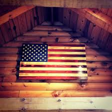 Wooden American Flag Wall Hanging The Rustic Flag Company