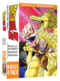 dragon ball amazon com dragon ball z movie pack collection three movies 10