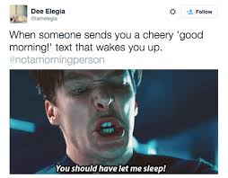 Morning People Meme - 17 reactions we all have to being denied our precious sleep