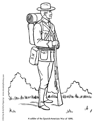 veterans day coloring pages spanish american war veterans