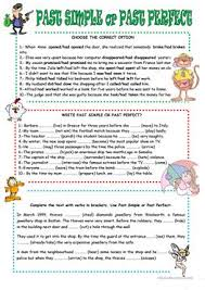 135 free esl past perfect simple vs continuous tense worksheets