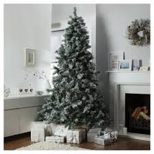 buy festive 8ft flocked pine christmas tree from our christmas