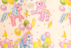 my pony wrapping paper my pony gift wrap paper mlp g1 vintage merch