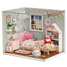 chambre jouet dollhouse chambre bricolage jouet maison heureux petit monde