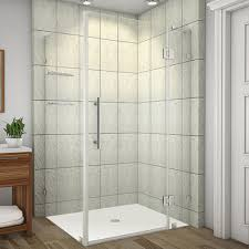 hinged glass shower door aston avalux gs 42