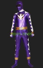 Power Ranger Halloween Costumes Power Rangers Dino Thunder Purple White Zentai Suits