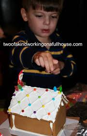 christmas edible craft wilton pre baked gingerbread house kit