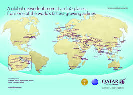 One World Route Map by Wftu Offer Of Qatar Airways For The Delegates Of The 17th World