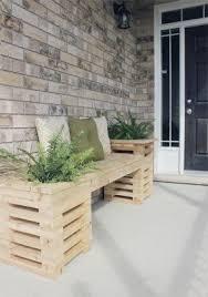 Plant Bench Plans - diy patio planter bench modern patio