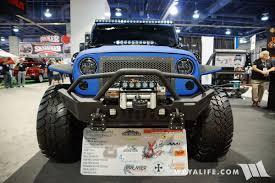 monster jeep jk 2016 sema go industries blue black jeep jk wrangler unlimted