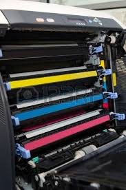 color laser printer toners cartridges stock photo picture and
