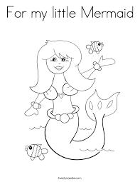 mermaid coloring twisty noodle