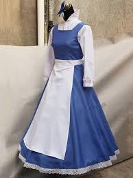 Belle Halloween Costume Blue Dress Beauty Beast Belle Blue Maid Dress Women U0027s Costume Cosplay