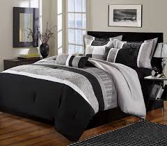 home decor black and white comforter cover king quilt setblack