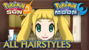ultra feminine hair for men pokémon sun and moon all hairstyles male female youtube