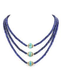 gemstone beaded necklace images Designer blue sapphire gemstone beaded with turquoise vintage JPG