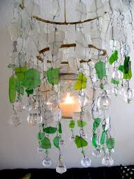 Beach Glass Chandelier 105 Best Sea Glass Lighting Images On Pinterest Glass Pendants