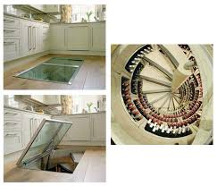 basement outstanding trap door wine cellar with spiral stairs and