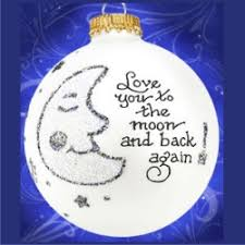 you to the moon and back glass ornament glass