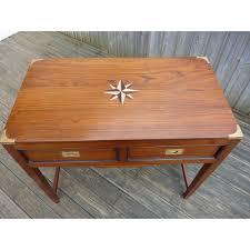 marine bureau meuble marine bureau 2 tiroirs teck