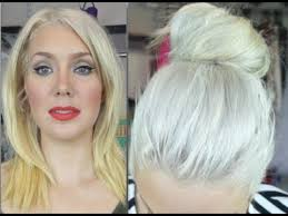 silver blonde color hair toner how to banish yellow from blonde hair youtube