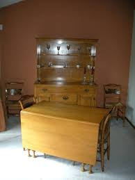 solid maple dining table maple dining room sets vintage solid maple county hutch dining table