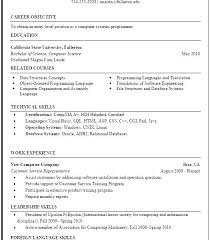 resume template format science resume template
