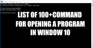here u0027s the list of 100 programs you can open from cmd in your