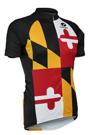New Jersy Flag Voler Maryland State Flag Men U0027s Cycling Jersey