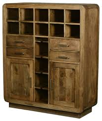 rustic wine cabinets furniture modern rustic solid wood glass holder wine rack home bar unit for