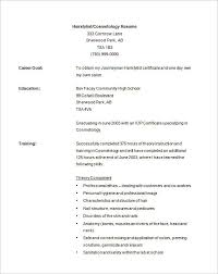 hair stylist resume exles cosmetology resume template hair stylist resume template 9 free for