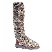 womens knit boots s muk luks miranda cable knit sweater boots target