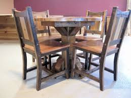 round barn wood dining table u2014 barn wood furniture rustic