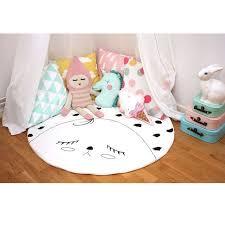 tapis rond chambre b 100 coton bébé rer couverture enfants chambre tapis de sol rond